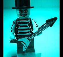 Emo, Goth, Punk, Band Guitarist Custom Minifigure by Customize My Minifig