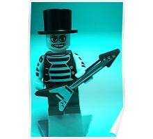 Emo, Goth, Punk, Band Guitarist Custom Minifigure Poster
