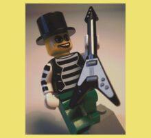 Emo, Goth, Punk, Band Guitarist Custom Minifigure Baby Tee
