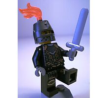 Dragon Knight with Chain Mail, Chain and Helmet Photographic Print