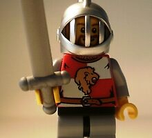 Lion Knight Quarters, Helmet with Fixed Grille by Customize My Minifig