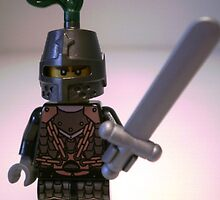 Dragon Knight with Chain Mail & Helmet Minifigure by Chillee