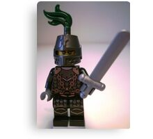 Dragon Knight with Chain Mail & Helmet Minifigure Canvas Print