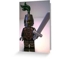 Dragon Knight with Chain Mail & Helmet Minifigure Greeting Card