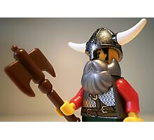 Viking Warrior with Custom Battle Axe Photographic Print