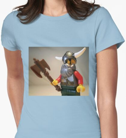 Viking Warrior with Custom Battle Axe Womens Fitted T-Shirt