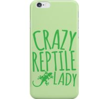 CRAZY REPTILE LADY iPhone Case/Skin