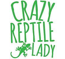 CRAZY REPTILE LADY Photographic Print