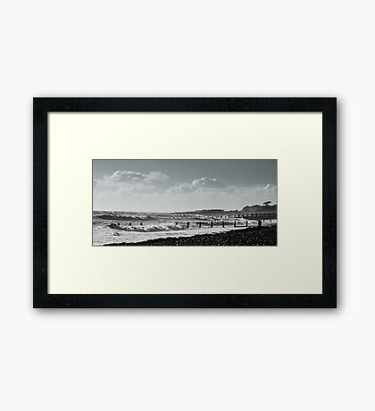 Stormy Seas at West Beach Framed Print