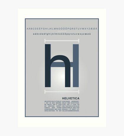 Helvetica The Typeface Art Print