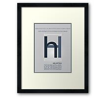 Helvetica The Typeface Framed Print