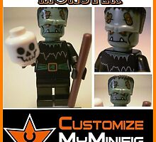 Customize My Minifig Collector Card 10, Custom 'Frankenstein's Monster' by Chillee