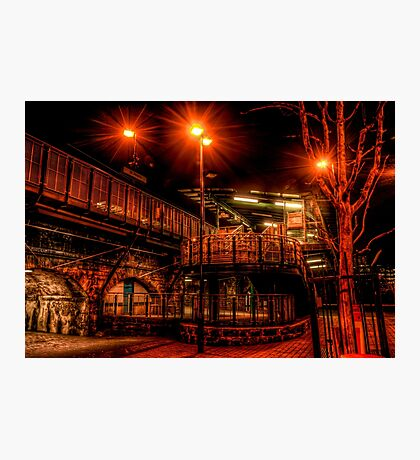 St Peters Metro Station At Night Photographic Print