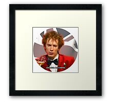 JOHNNY HATES IT Framed Print