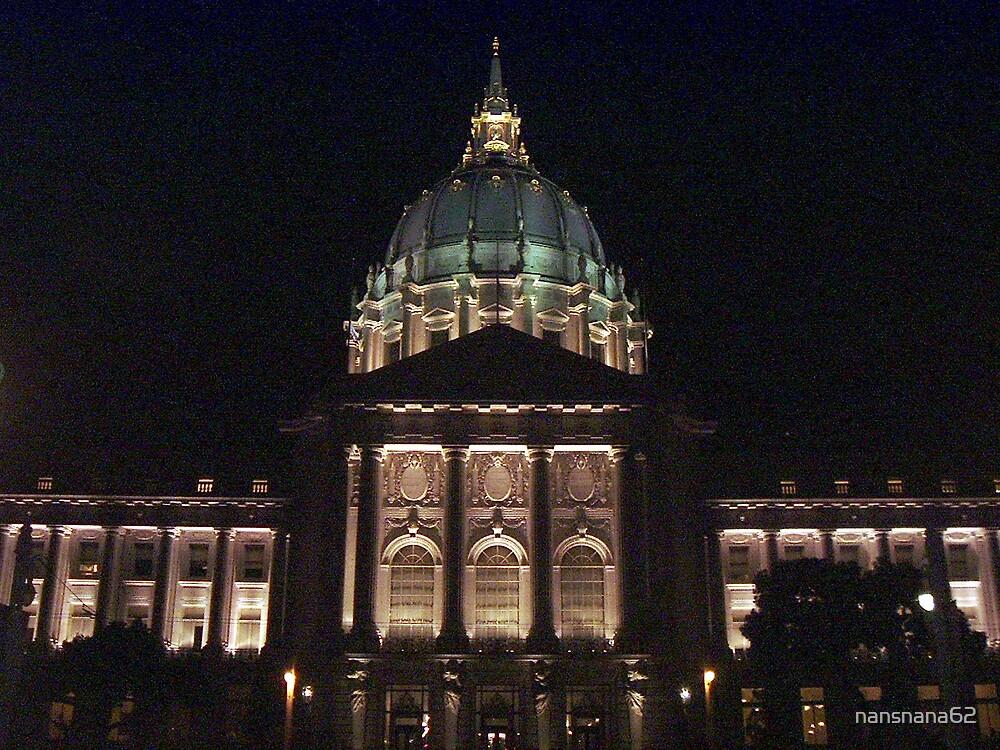 City Hall at night in San Francisco by nansnana62