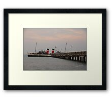 PS Waverley moored at Yarmouth Pier Framed Print