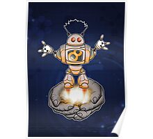 Helpful, handy robot Poster