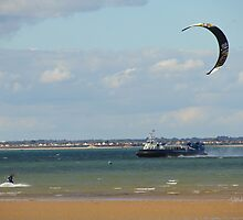 Kite surfer in the Solent by Jonathan Cox
