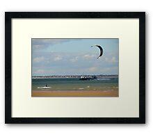 Kite surfer in the Solent Framed Print