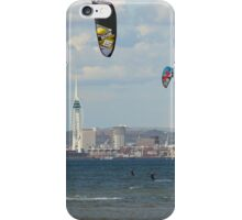 Kite surfer in the Solent iPhone Case/Skin