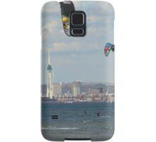 Kite surfer in the Solent Samsung Galaxy Case/Skin