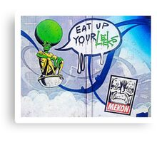 Eat your leeks! Canvas Print