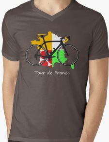 Tour de France Mens V-Neck T-Shirt