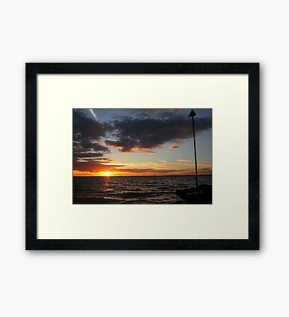 Gurnard Sunset Framed Print