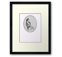 NYC-Madonna and Child on the train to Grand Central Framed Print