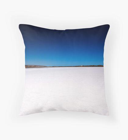 Port Gregory Pink Lake  Throw Pillow