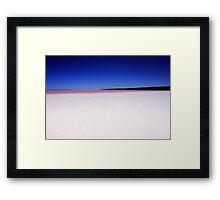 Port Gregory Pink Lake  Framed Print
