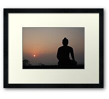 sunrise buddha Framed Print