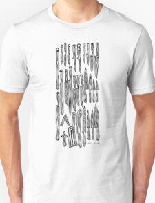 LINEart T-shirt: Lens-Knife <type2> T-Shirt