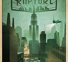 Bioshock Infinite: Rapture Poster by mariafumada