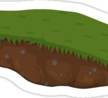 Glitch Groddle Land floating platform grass 01 Sticker