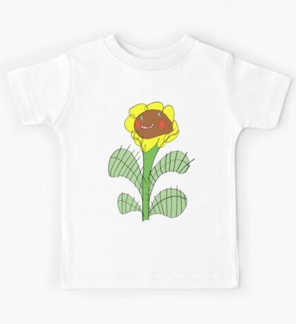 RTD0004C - Happy Flower - Colour Kids Tee