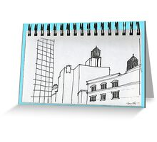 NYC-Manhattan's rooftop water towers Greeting Card