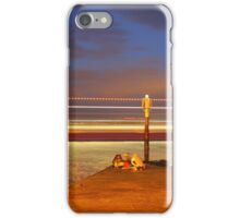 Red Jet 4 leaving Cowes at Night iPhone Case/Skin