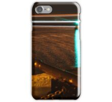 Red Jet 3 passing the Royal Yacht Squadron at Night iPhone Case/Skin