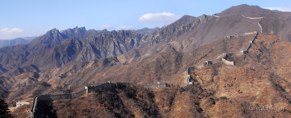 The Great Wall Of China At Mutianyu by GregCheney