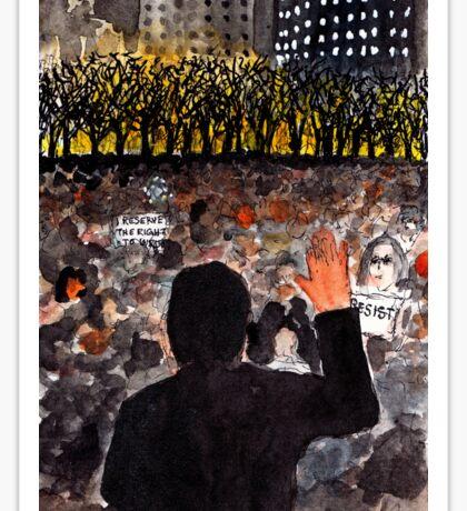 Writers Candlelight Vigil for Free Speech Sticker