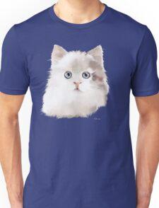 White Kitten with Large Blue Eyes Unisex T-Shirt