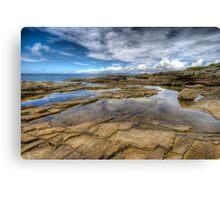 Irish rockpool with reflected sky Canvas Print
