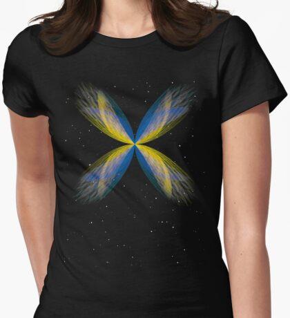 Butterfly Nebula Womens Fitted T-Shirt