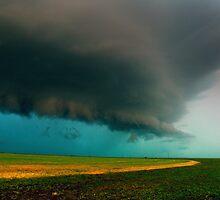Shelf Cloud Overhead by Brian Barnes StormChase.com