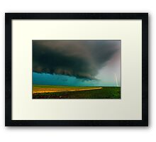 Shelf Cloud Overhead Framed Print