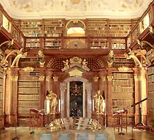 The Monastery Library, Melk, Austria by Clive  Cashman