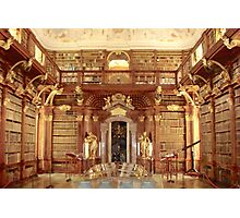 The Monastery Library, Melk, Austria Photographic Print