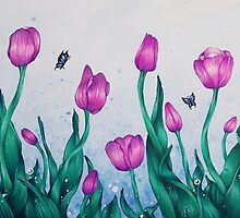 Pink Tulips by ElishaKelly