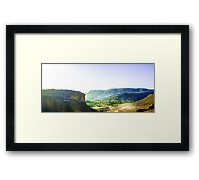 road towards green oasis Framed Print